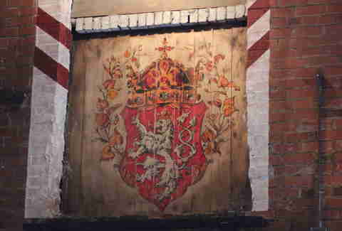 the Czech coat of arms at Bohemian Biergarten