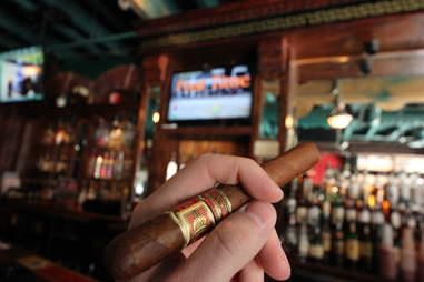 a fine cigar at Delaney's Cigar Bar
