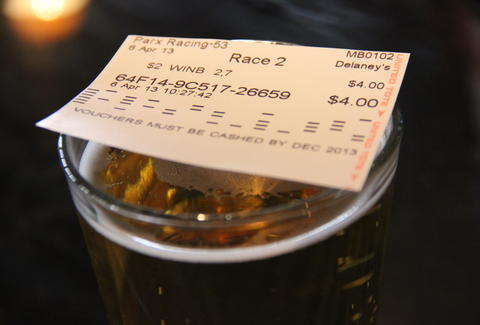 beer and a betting ticket at The Celtic Tavern