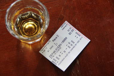 a shot and a betting ticket at The Celtic Tavern