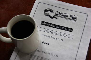 coffee and a racing program at The Celtic Tavern