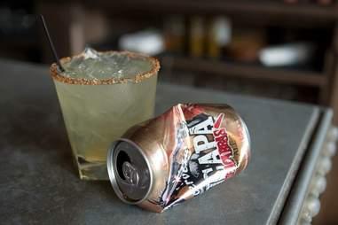 Margarita and a beer at Lone Star
