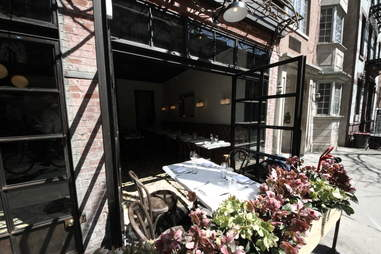 Outdoor seating at Little Prince in Soho