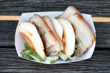 Fugu Food Truck's Grilled Pork Belly Buns