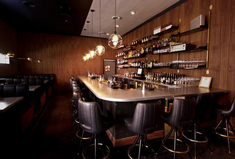 The bar at Paper Plane