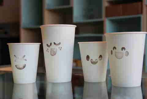 Coffee cups at Flour + Co