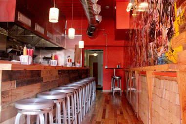 Cheu Noodle Bar's 30 seat counter.