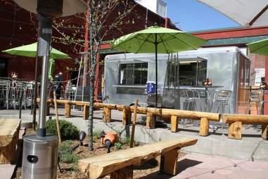 Outdoor area at Black Crow in Denver