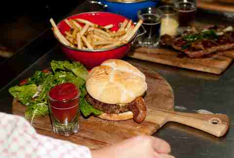 Creekstone Farms burger at Bisou Bistro