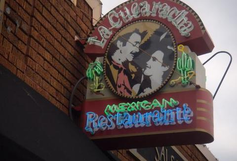 Outside of La Cucaracha mexican restaurant in Minneapolis
