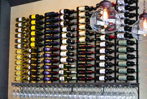 Volare Bistro wine bar bottles
