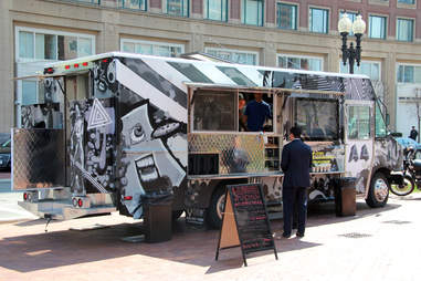 Customer ordering at the A4 Food Truck