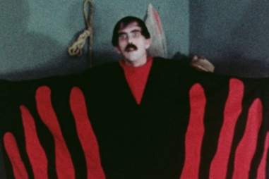 A crappy looking still from Manos: Hands of Fate.