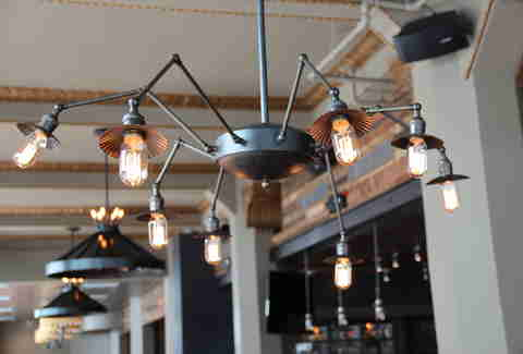 Spider lamp at Tribune Tavern