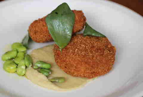 Pork trotter fritters at Tribune Tavern