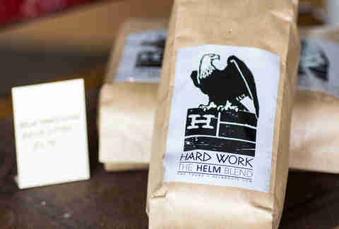 progress coffee helm hard work blend