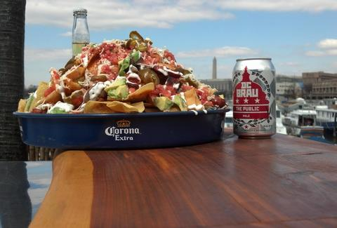 Outdoor nachos at Cantina Marina in Washington DC