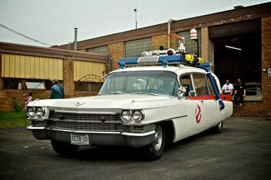 Ghostbusters car at Hack Factory, Minneapolis