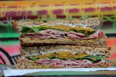 A pressed ham sandwich from Philly's Farm Truck