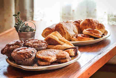 Fresh baked pastries at Bino's Bistro and Crêperie.