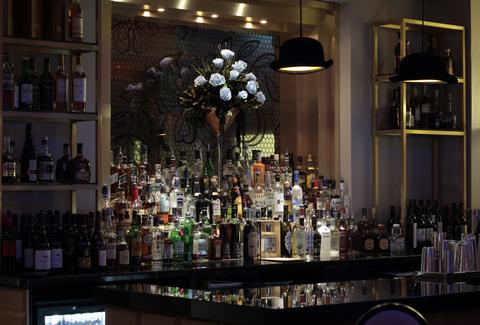 The bar at Mansion Bar & Parlour