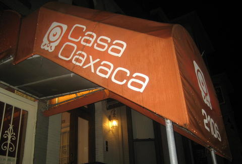 Outside of Casa Oaxaca in Washington DC