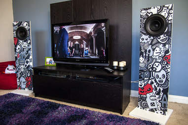 Pair of speakers as part of home theater setup