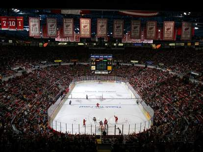 Joe Lewis Arena during a Red Wings game