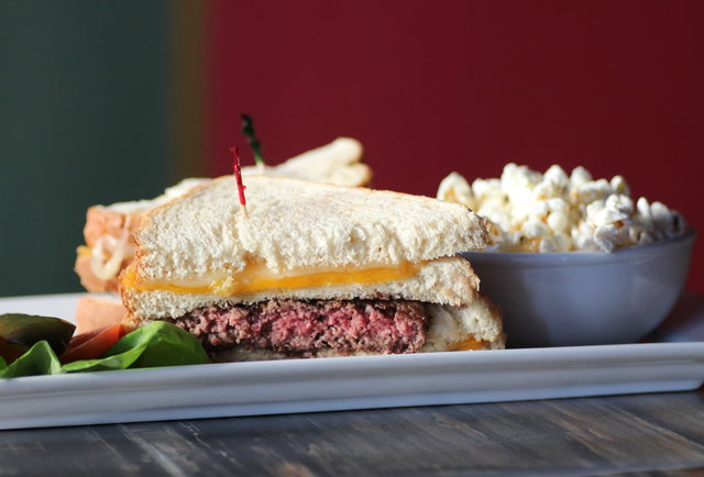 Lower Pac cocktails and the craziest burger you\'ve ever seen