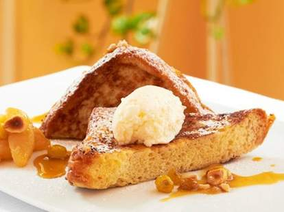 French toast for brunch at Mansion