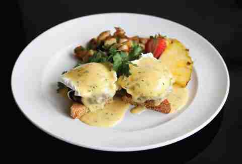 Eggs benedict at the Red Door