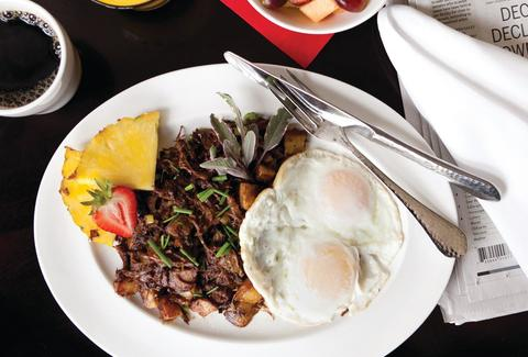 Short rib hash at the Red Door