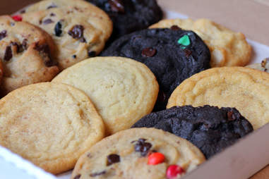A dozen cookies from Insomnia Cookies in Lincoln Park