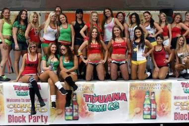 Hot waitresses at Tijuana Taxi Company