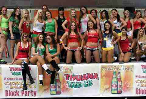 Hot waitresses at Tijuana Taxi Company