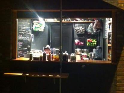 Taco stand at Tacos de la Noche