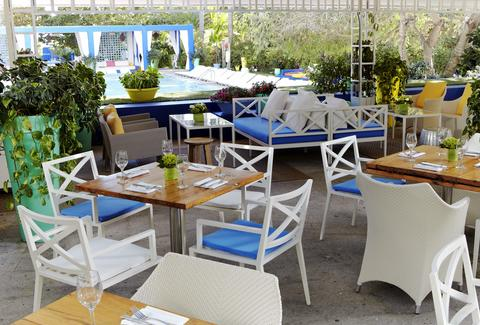 Outdoor seating at Shore Club's Terrazza