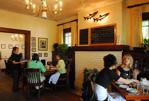 The interior at Eastside Cafe