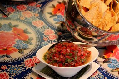 Roma tomato salsa at Jose Garces' Distrito Cantina