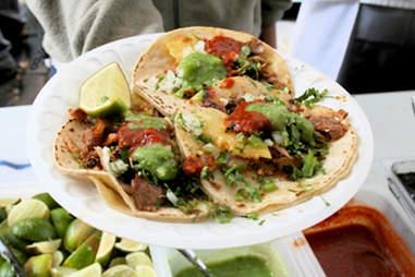 Los Taquitos de Puebla's offal tacos