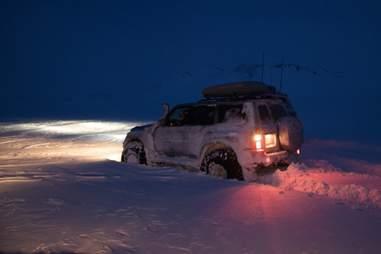 Taking a night safari at ION Iceland