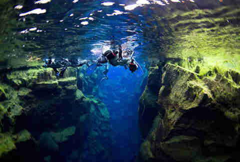 Swimming between tectonic plates at ION Iceland