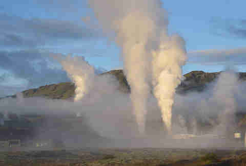 geysers at ION Iceland
