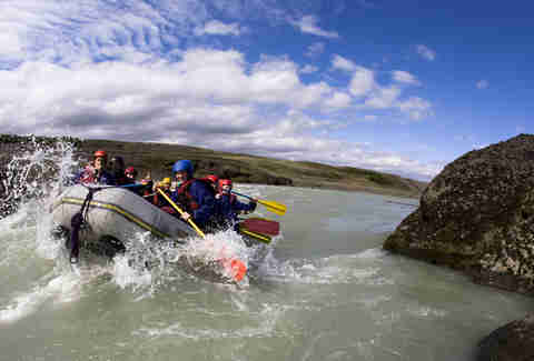 white water rafting at ION Iceland