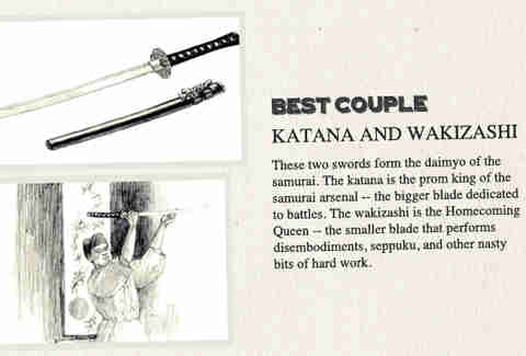 Katana and wazikashi are the best couple in History of Weapons