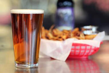 Estelle's beer w/ fries