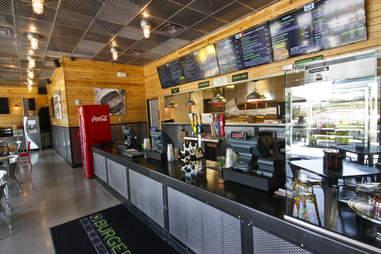 BurgerFi Atlanta interior counter