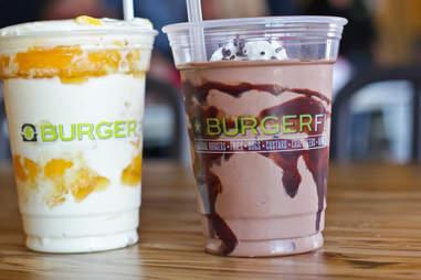 BurgerFi Atlanta - Tropical Freeze Concrete & Chocolate Shake