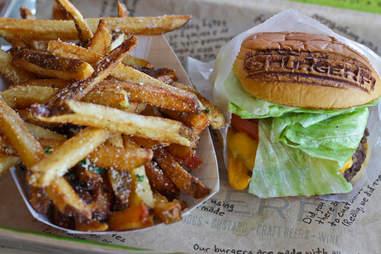 BurgerFi Atlanta - BurgerFi Cheeseburger with Parmesan Cheese & Herb Fries