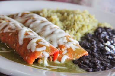 Brisket enchiladas at Pepe's Ranch, Deep Ellum, Dallas TX